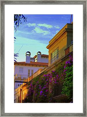 Framed Print featuring the photograph Palm Beach Via by George Mount