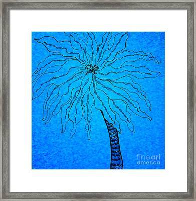 Palm Blue Framed Print