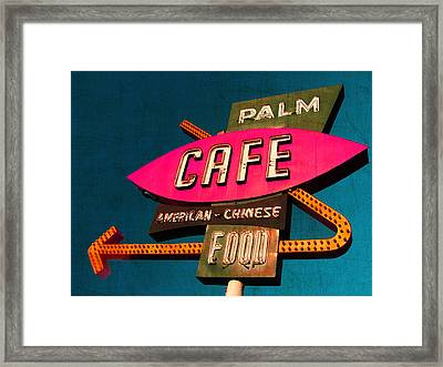 Palm Cafe Framed Print by Gail Lawnicki