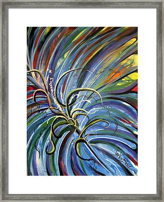 Palm Crazy Framed Print