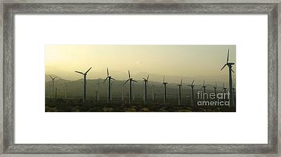 Palm Desert Wind Mills Framed Print by Gregory Dyer