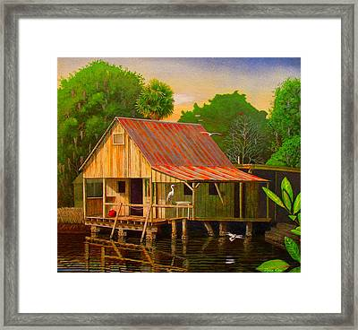 Palm Island Crab House  Framed Print by Buzz Coe