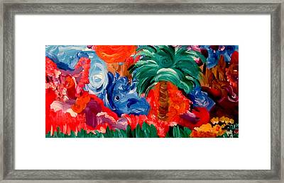 Palm Mountain Framed Print