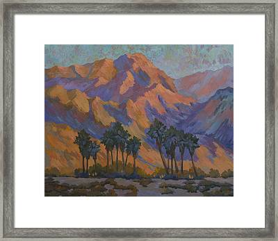 Palm Oasis At La Quinta Cove Framed Print by Diane McClary