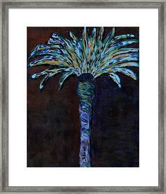 Palm On Purple  Framed Print by Oscar Penalber