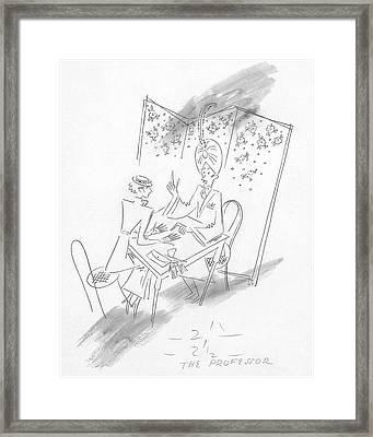 Palm Reading Framed Print by Constantin Alajalov