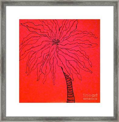 Palm Red Framed Print