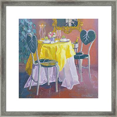 Palm Room Oil On Board Framed Print by William Ireland