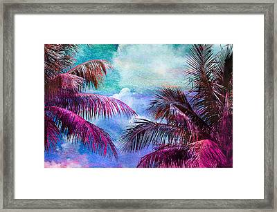 Palmscape Paradise Framed Print by Laura Fasulo
