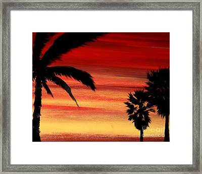 Palm Set Framed Print