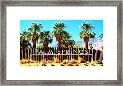 Palm Springs 1 Framed Print