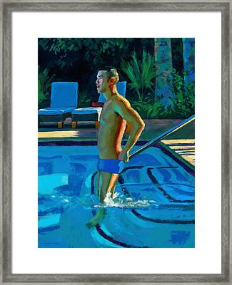 Palm Springs 6pm Framed Print by Douglas Simonson