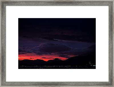 Palm Springs Airport Sunrise  Framed Print by John Daly