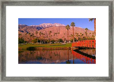 Framed Print featuring the photograph Palm Springs by Chris Tarpening