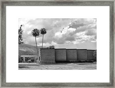 Palm Springs City Hall Bw Palm Springs Framed Print by William Dey