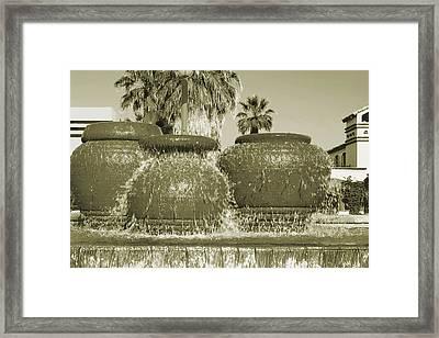 Palm Springs Fountain Framed Print by Ben and Raisa Gertsberg