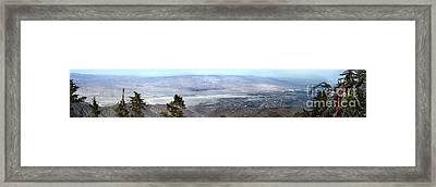 Palm Springs Panoramic View - 01 Framed Print by Gregory Dyer