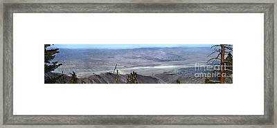 Palm Springs Panoramic View - 02 Framed Print by Gregory Dyer