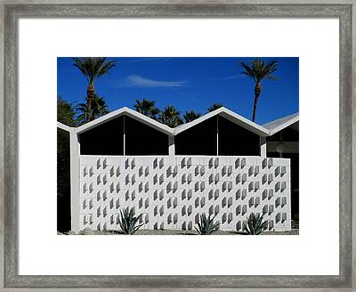 Palm Springs Park Imperial South Framed Print by Randall Weidner