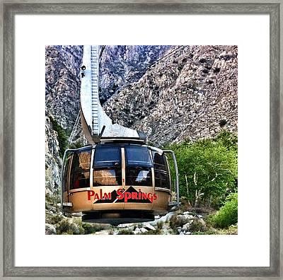 Palm Springs Tram 2 Framed Print by Susan Garren