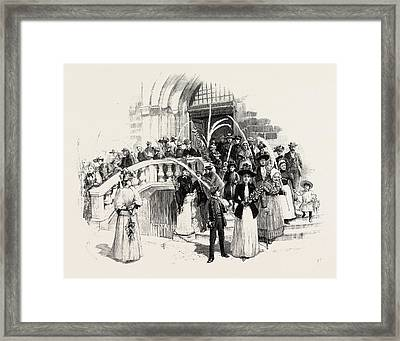Palm Sunday At Grasse France Framed Print by French School
