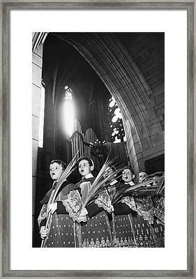 Palm Sunday Choir Boys Framed Print by Underwood Archives