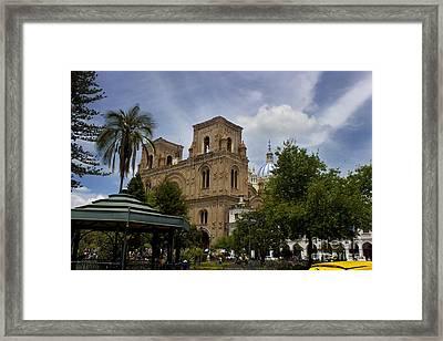 Palm Sunday In Cuenca Ecuador Framed Print by Al Bourassa