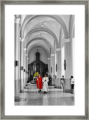 Palm Sunday In El Cobre Framed Print by Dawn Currie