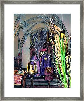 Palm Sunday Liturgy Framed Print by Sarah Loft