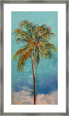 Palm Tree Framed Print by Michael Creese