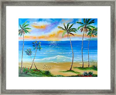 Palm Tree Paradise Framed Print