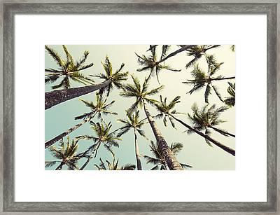 Palm Tree Sway Framed Print