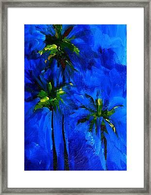 Palm Trees Abstract Framed Print by Patricia Awapara
