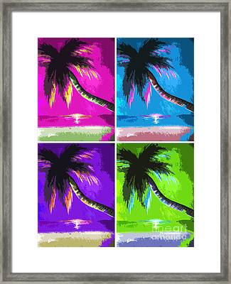 Palm Trees By Shawna Erback Framed Print by Shawna Erback
