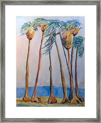 Palm Trees Framed Print by Esther Newman-Cohen