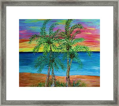 Palm Trees Framed Print by Janet Immordino