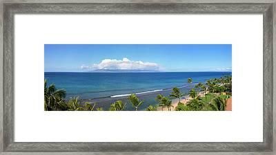 Palm Trees On The Beach, Kaanapali Framed Print
