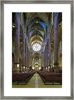 Palma De Majora Cathedral. Ca Framed Print by Everett