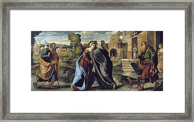 Palma, Jacopo 1480-1528. The Visitation Framed Print by Everett