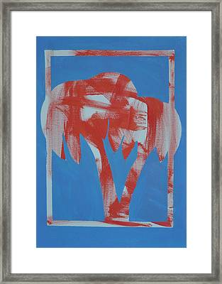 Palme In Azzurro Framed Print by Paolo Santo