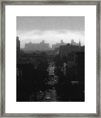 Palmetto St. In Ridgewood Queens Nyc Framed Print