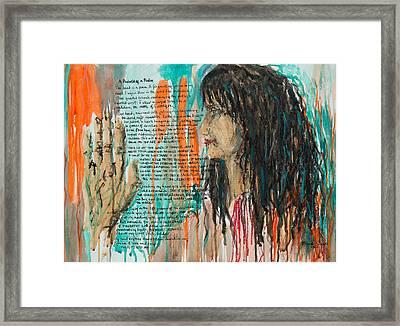 Palmistry A Psalm Framed Print by Brenda Clews