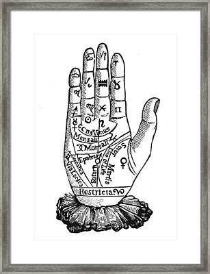 Palmistry Chart, 1885 Framed Print by Granger
