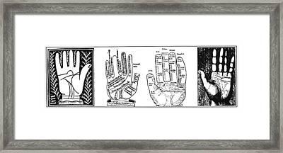 Palmistry Chart Framed Print by Granger