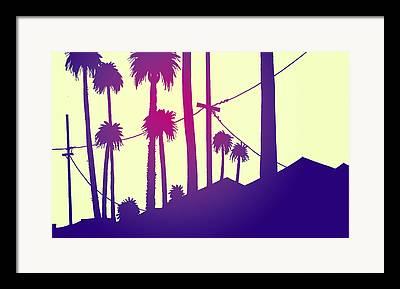 Los Angeles Drawings Framed Prints