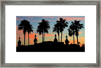 Palms And Minarets Framed Print