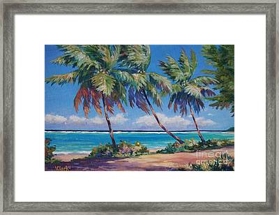 Palms At The Island's End Framed Print by John Clark