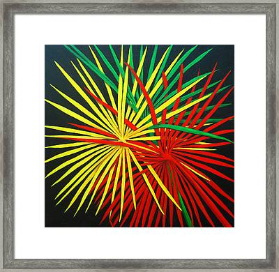 Palms Bursting Framed Print