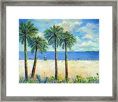 Palms On Siesta Key Beach Framed Print