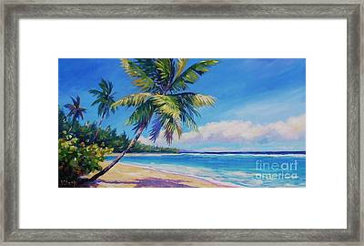 Palms On Tortola Framed Print by John Clark